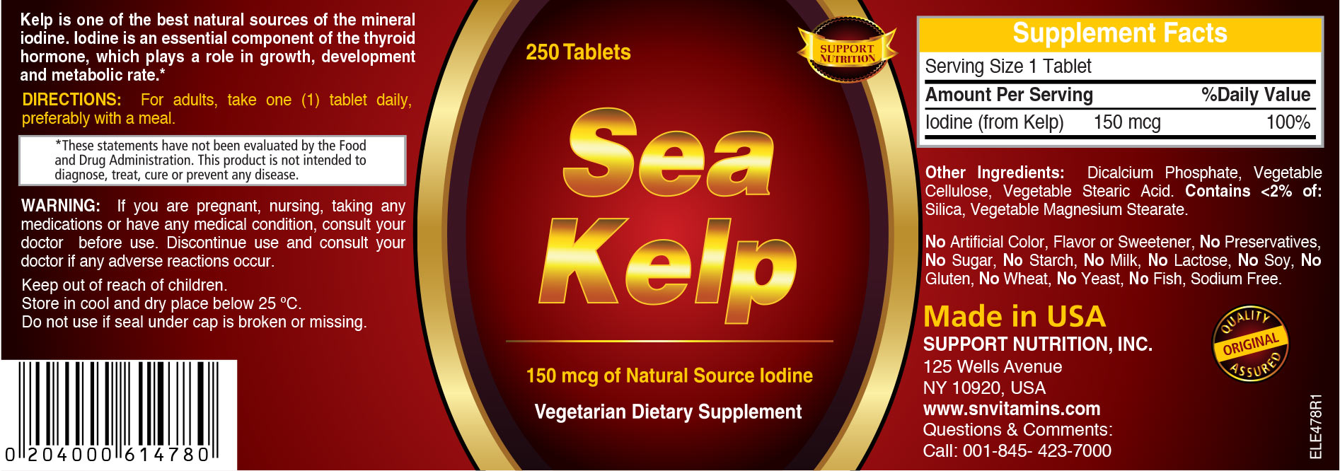 Sea Kelp Tablets
