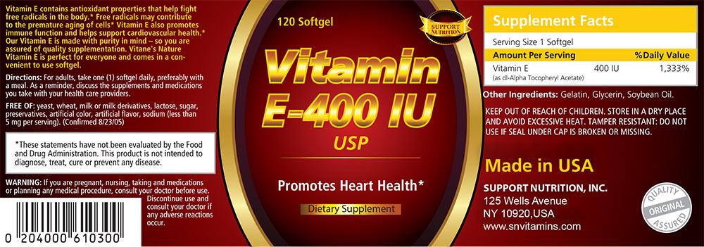 Vitamin E-400 IU USP